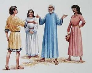 Jacob, Rachel and Leah